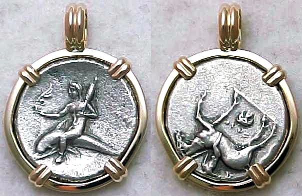 Boy On A Dolphin Ancient Greek Coin Jewelry