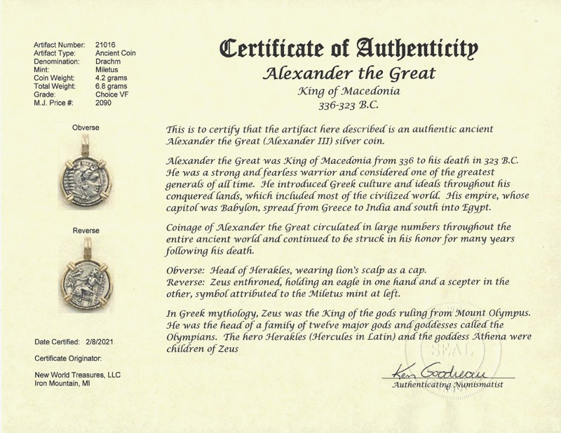 Alexander The Great Ancient Greek Coin Jewelry